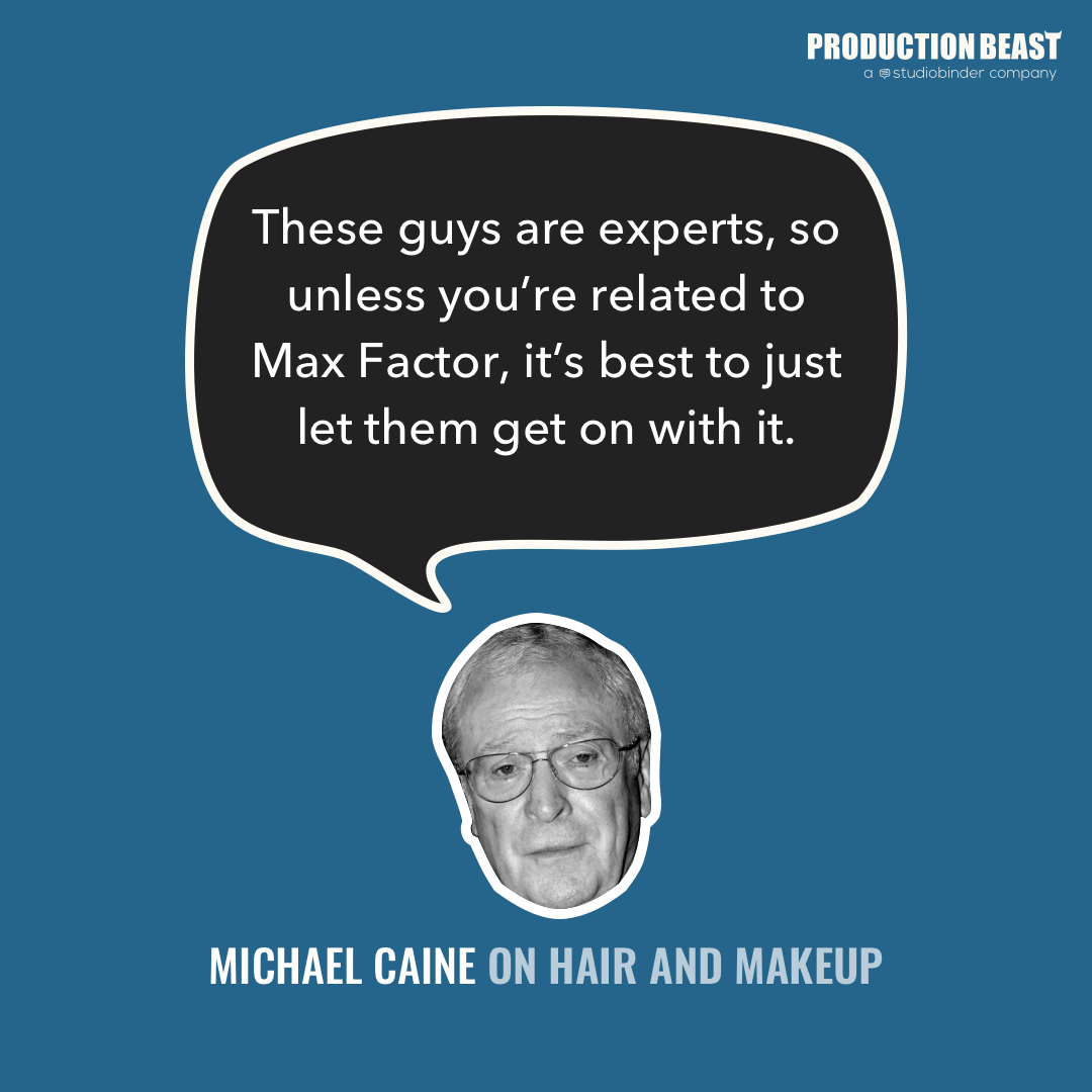 Hair and Make Up - Michael Caine on Hair and Make Up - ProductionBeast
